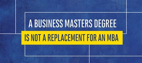 2017 Mba Prospective Students Survey Report by A Business Masters Degree Is Not A Replacement For An Mba