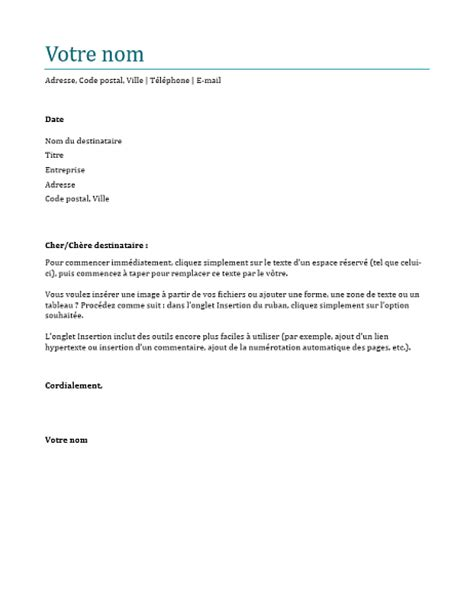 Pr Sentation Lettre De Motivation Dactylographi E lettre de motivation bleu office templates