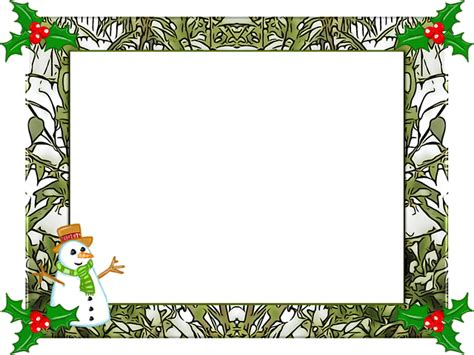 natale clipart gratis free illustration frame