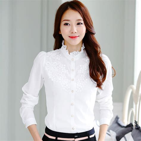 Blouse Fashion Korea 420103 5 popular korean lace tops buy cheap korean lace tops lots from china korean lace tops suppliers