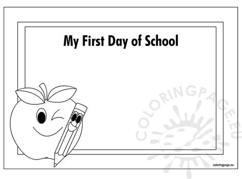 first day of kindergarten coloring page to invigorate to