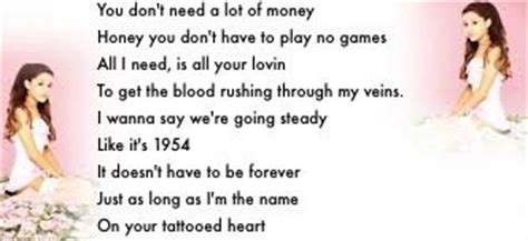ariana grande tattooed heart lyrics grande tattooed lyrics song lyrics