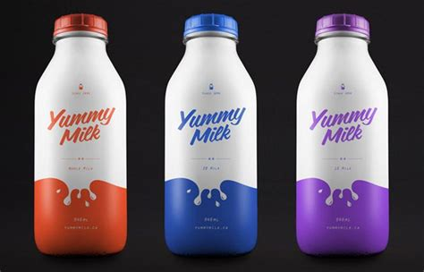 packaging design of milk 18 milk packaging designs