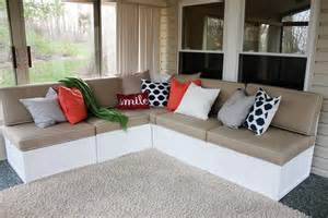 Diy Outdoor Sectional Sofa White Outdoor Sectional Diy Projects