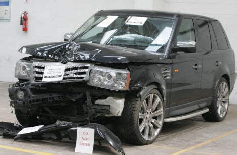 accident recorder 2008 land rover range rover sport parking system pictured the professional footballer s car and the family vehicle he collided with leaving