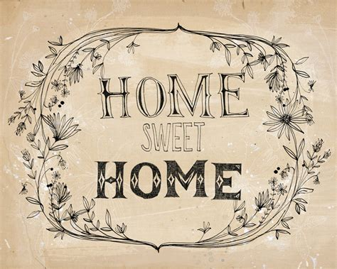 home sweet home print a sweet william