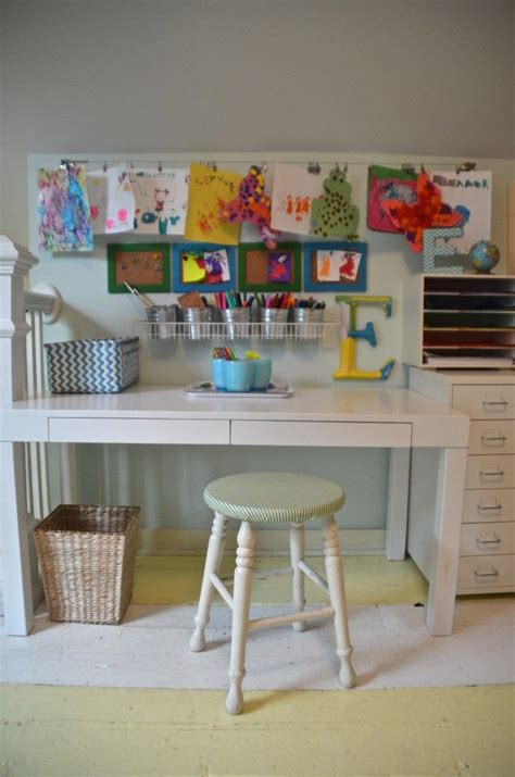 kids art desk  storage woodworking projects plans