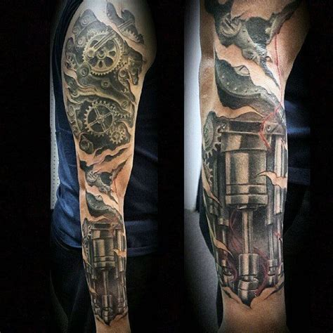 robot sleeve tattoo designs top 80 best biomechanical tattoos for improb