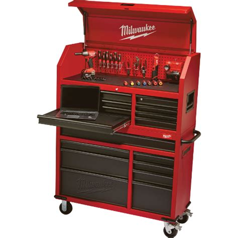 tool chest and rolling cabinet 46 quot rolling steel storage chest and cabinet milwaukee