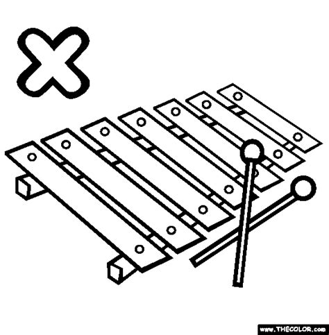 xylophone coloring pages www pixshark com images
