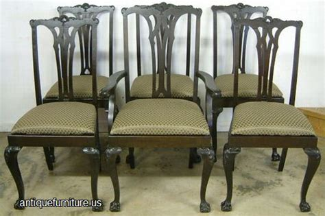 Dining Room Furniture Auctions Antique Set Mahogany Claw Dining Chairs At Antique