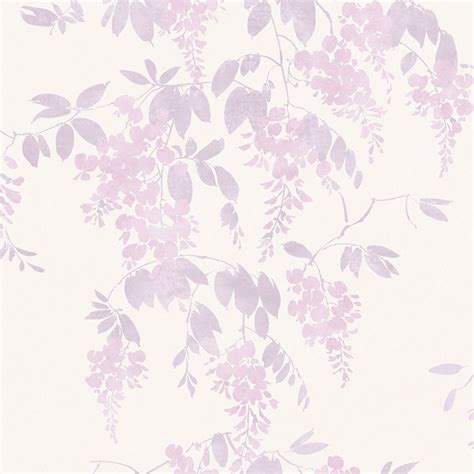 arthouse eco wisteria lilac floral wallpaper departments