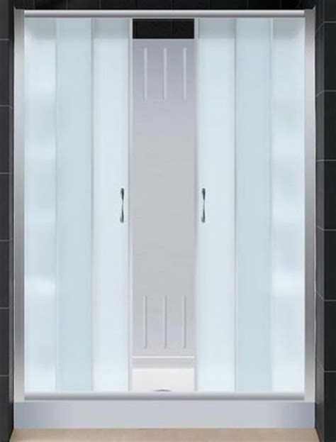 Frosted Glass Shower Doors by Dreamline Dl 6109l 04fr Visions Sliding Shower Door With