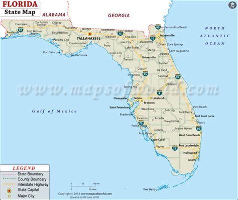 florida map of beaches