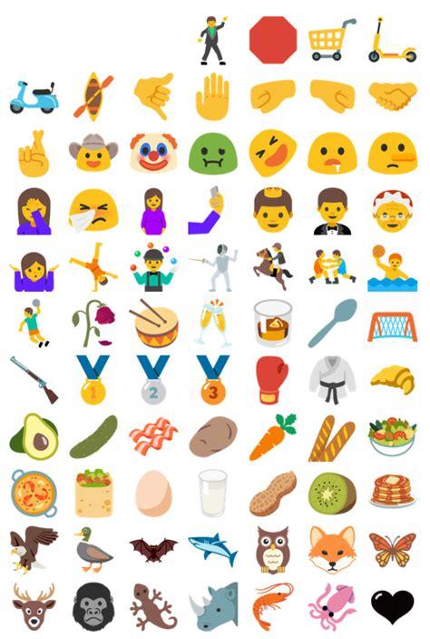 rekord android n kommt mit 953 neu designten emojis hier sehr ihr alle bildchen in der - New Android Emojis