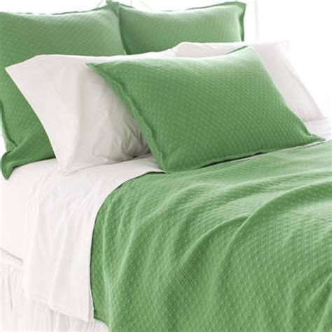 Diamond Grass Green Matelasse Coverlet Modern Quilts