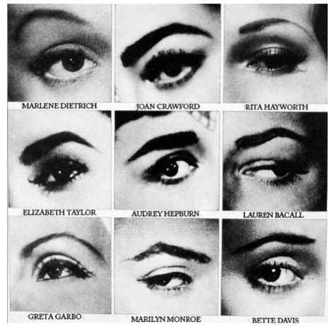 eyebrow fashions throughout the decades max made 187 the importance of brows