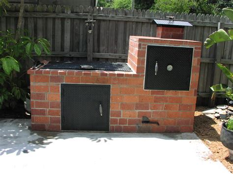 build your own backyard smoker brick barbecue 15