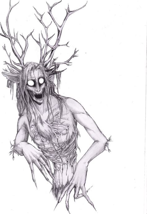 wendigo by theruthela on deviantart