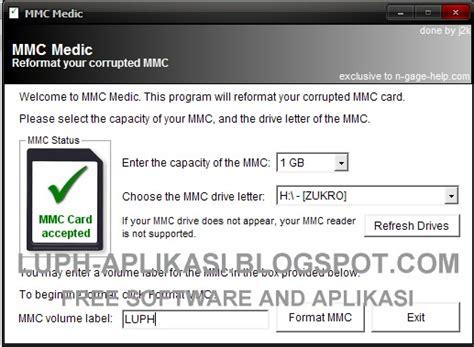 Memory Untuk Hp mmc medic software untuk memory hp mmc yang korup