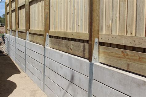 Sleeper Retaining Wall Systems by Pioneer Smooth Grey Concrete Sleeper Retaining Wall With A