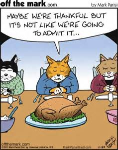 thanksgiving day cat humor