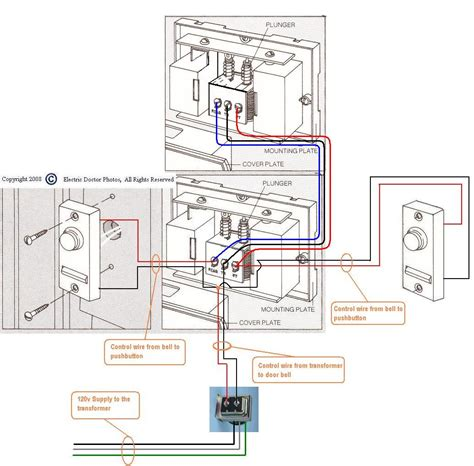 wiring diagram doorbell siemens door chime i need three door chimes all located in different rooms to be operated from