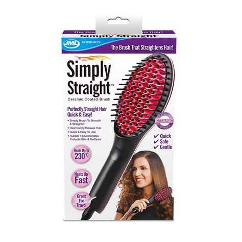 jml simply straight heated ceramic hair straightener jml simply straight ceramic heat hair straightening brush