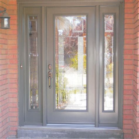 Front Single Door with Sidelights   Traditional   Entry