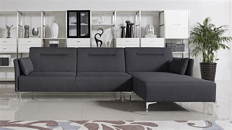 Modern Gray Sectional Sofa Bellino Grey Fabric Sectional Sofa With Convertible Bed Modern Sofa Beds