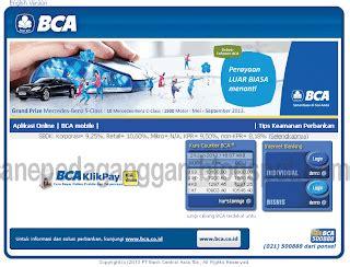 bca adalah cek saldo melalui internet banking klik bca anepedaganggan