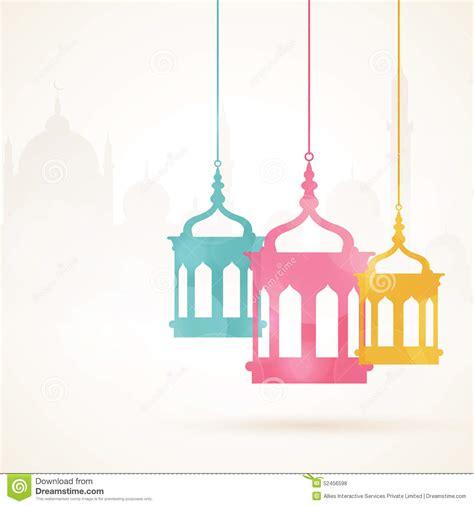 Decorative Lantern by Ramadan Kareem Celebration With Colorful Hanging Arabic
