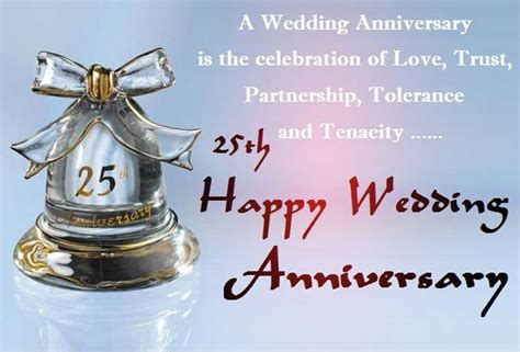 Wedding Anniversary Wishes Letter by 25th Wedding Anniversary Wishes And Messages Wishesmsg