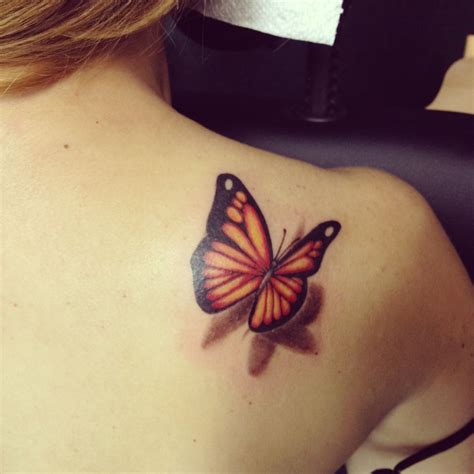 yellow butterfly tattoo tattoos on tattoos and peace sign