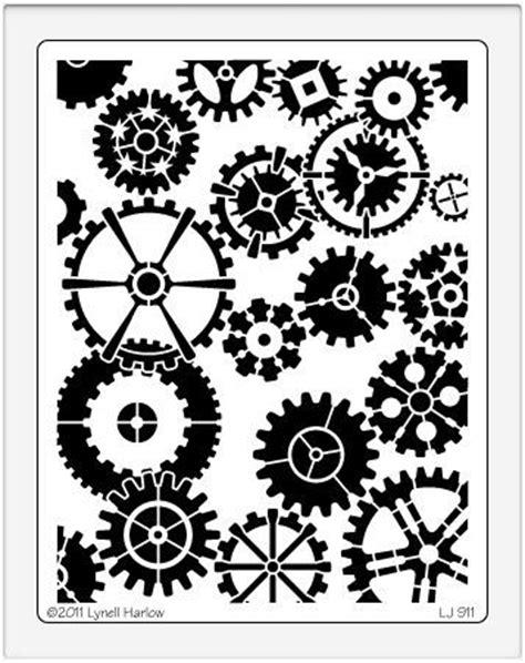 Stencil Machine Gear By 1airbrush 13 best stencils images on stencil templates
