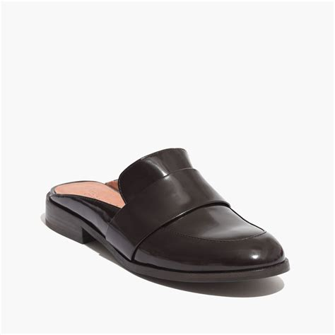 backless loafers womens madewell the elin backless loafer in brown rubino lyst