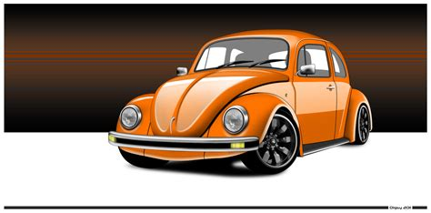 orange volkswagen beetle orange vw beetle by diggerruvella on deviantart