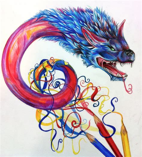 Dragon From Color Pencils By Lucky978 On Deviantart Colored Drawings