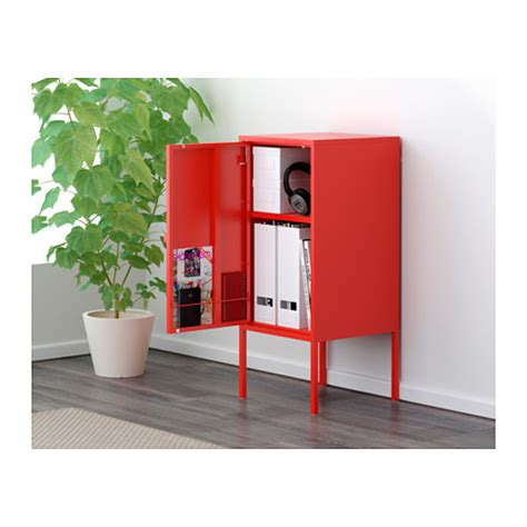 lixhult hack lixhult cabinet metal red 35x60 cm ikea