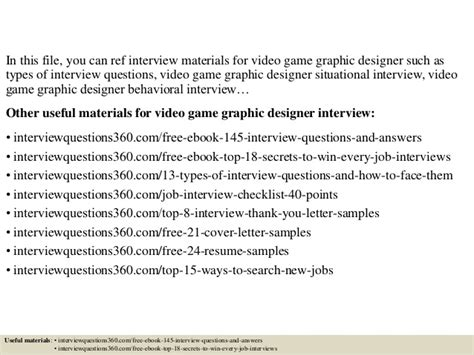 Game Design Interview Questions | top 10 video game graphic designer interview questions and
