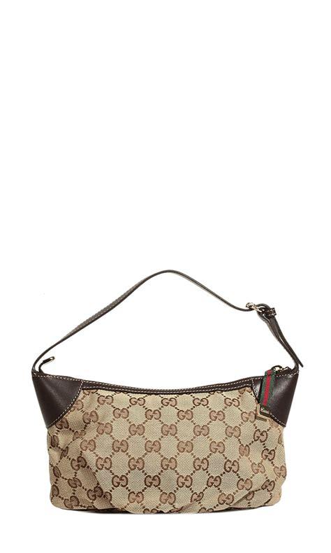 Gucci Mini Bag Dcg418 1 gucci mini bag pleated across gg in brown marron lyst