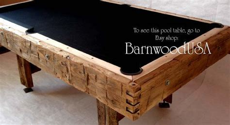 Handmade Pool Table - handmade reclaimed handhewn barn wood pool table by