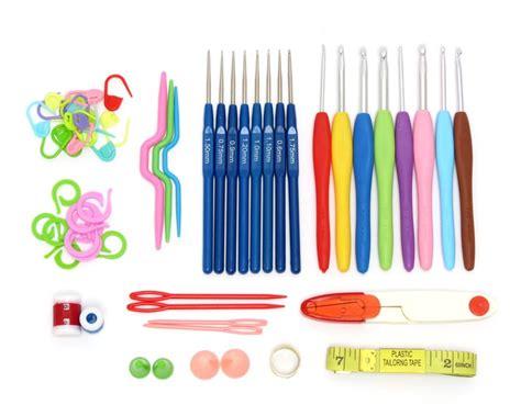 Alat Rajut paket alat rajut aksesoris lengkap kotak plastik crafts