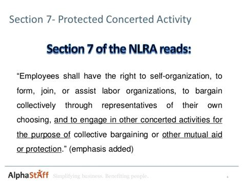 Nlra Section 7 Rights recent nlrb rulings and their impact on non union employers