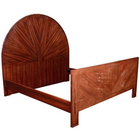 art deco bed large art deco bed frame in rosewood at 1stdibs