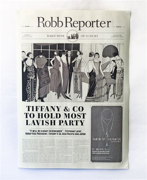 Unit One Studio Tiffany Co 1920 Newspaper 1920s Newspaper Template