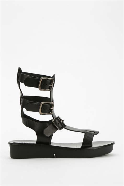 steve madden magnus caged platform sandal in black lyst