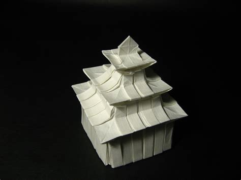3d Origami House - galleries print origami designs fubiz