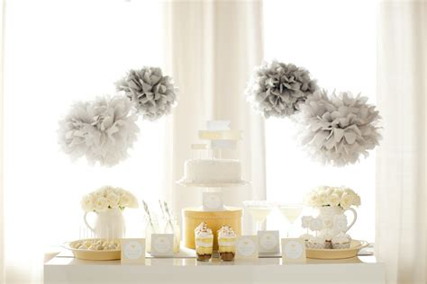 yellow baby shower yellow and gray pottery barn kids gender neutral baby shower ideas baby aspen blog