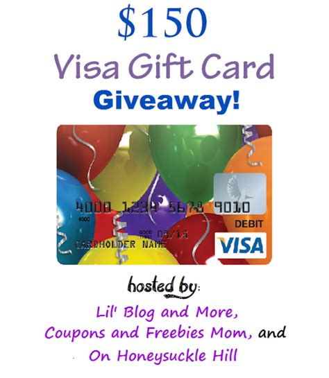 Worldwide Visa Gift Card - lil blog and more 150 visa gift card giveaway ends 4